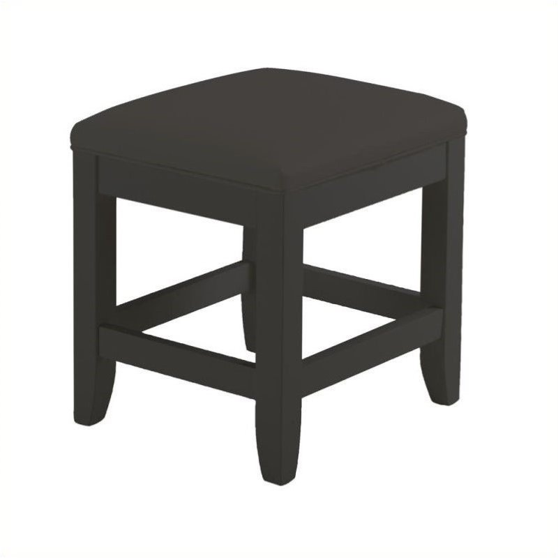 Hawthorne Collections Vanity Bench in Black by Hawthorne Collections