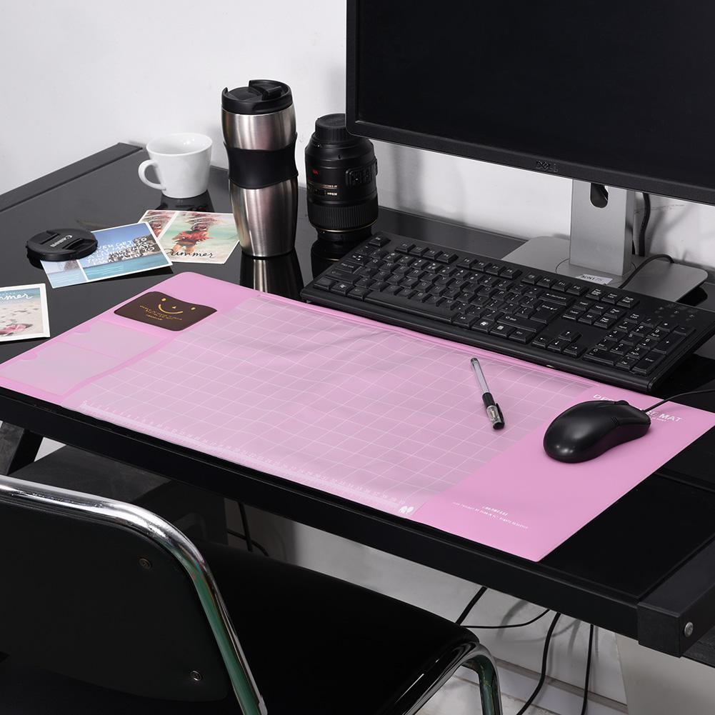 Ashata Large Size Multifunctional Desk Mouse Pad Waterproof Anti-slip Desktop Mat with Pockets, Desktop Mat, Multifunctional Desk Mat