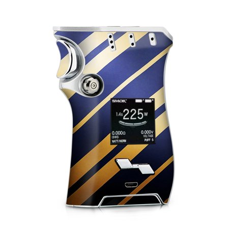 Skins Decals for Smok Mag + TFV12 Prince tank Vape / blue gold stripes