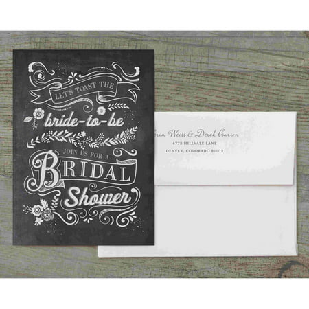 Let's Toast The Bride-To-Be Deluxe Bridal Shower Invitation Bride Bridal Shower Invitation
