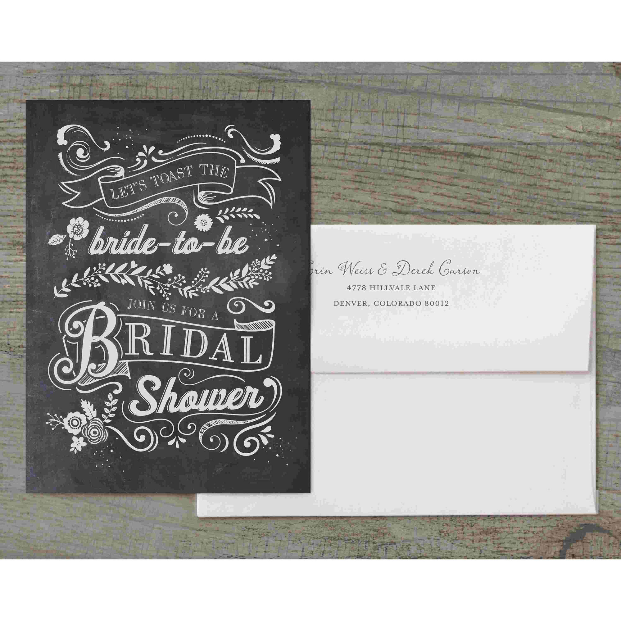 Let's Toast The Bride-To-Be Deluxe Bridal Shower Invitation