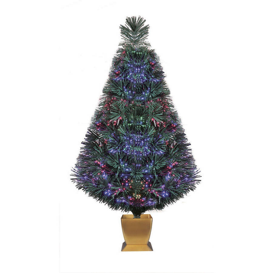 Small artificial christmas trees with led lights - Holiday Time Artificial Christmas Trees Pre Lit 32 Fiber Optic Artificial Tree Green