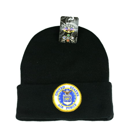 US Military BEANIE Navy Army Air Force Marine Hat Cap Purple Heart Shellback (One Size,7mb009_US Air Force_Black)](Us Army Air Force Uniform)