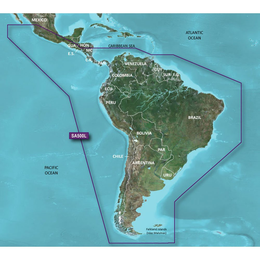 Garmin Charts 7043697 Garmin Bluechart® G2 Hd - Hxsa500l - South America - Microsd™/sd™