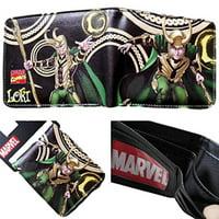 Superheroes Marvel Comics Loki Avengers Thor Bi-fold Mens Boys Wallet with Gift Box