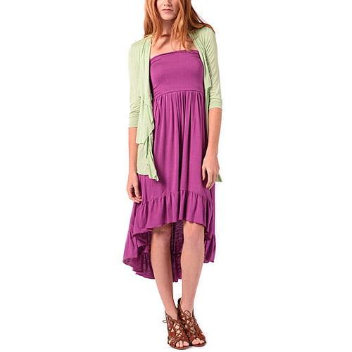 Bella Bird Women's Hi-Low Ruffled Knit Dress
