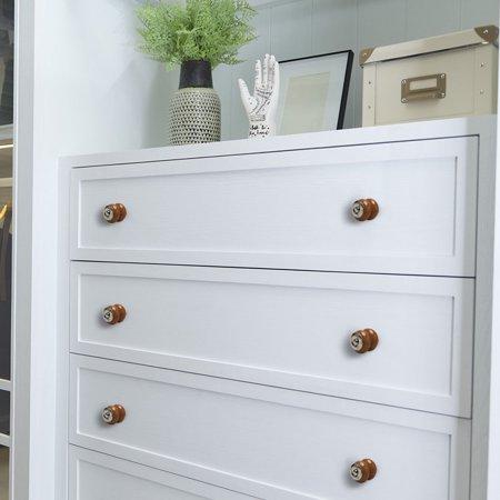 Ceramic Knobs Vintage Drawer Pull Handle Cupboard Wardrobe Cabinet 4pcs Brown - image 5 of 7