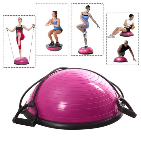 Costway Ball Balance Trainer Yoga Fitness Strength Exercise Workout W Pump  Rose
