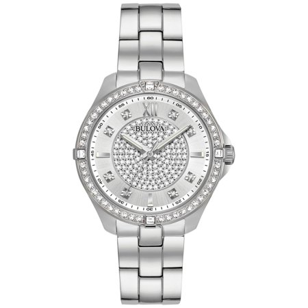 Bulova Women's Crystal Accent Stainless Steel -