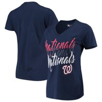 Washington Nationals G-III 4Her by Carl Banks Women's Game On V-Neck T-Shirt - Navy