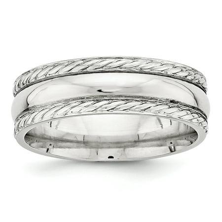 8ae80510c Bridal Wedding Band - .925 Sterling Silver 6 MM Polished Fancy Wedding Band  Ring Size 7.5 MSRP $125 - Walmart.com