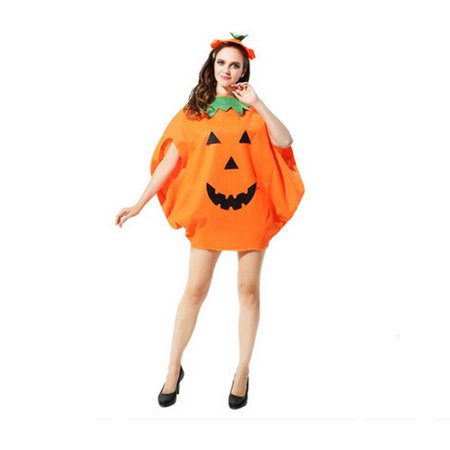 Halloween Pumpkin Fancy Cosplay Dress Costumes Adult for Party - Pumpkin Costume Homemade