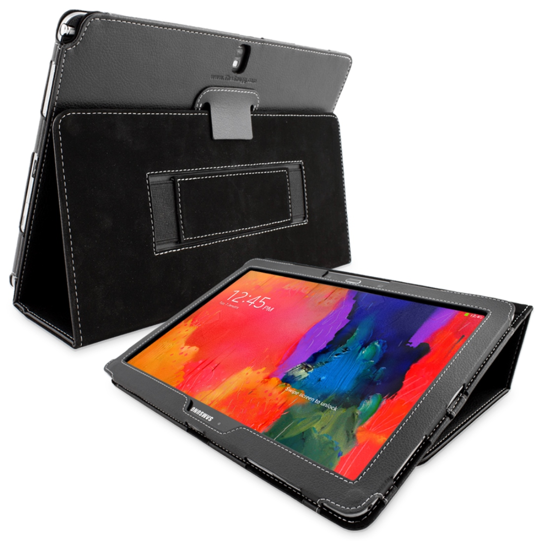 Snugg B00JAH10K8 Galaxy Note PRO 12.2 Case Cover and Flip Stand, Black Leather