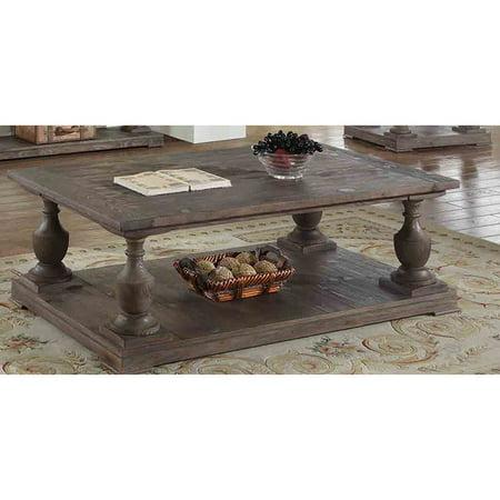 Best Master Furniture Oak-finish Pinewood Rustic Coffee