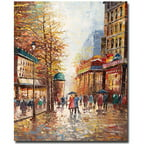 "Trademark Fine Art ""French Street Scene"" Canvas Art by Joval"