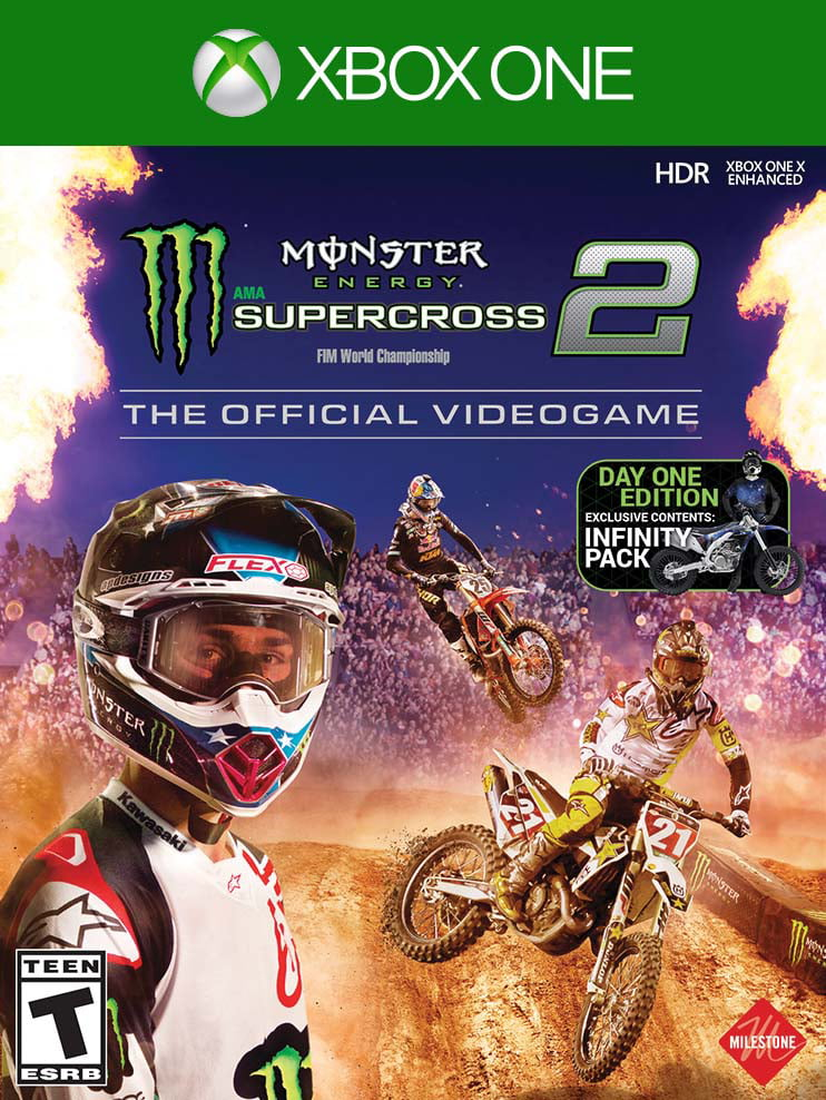 Monster Energy Supercross 2 - The Official Videogame 2 Day One Edition, Milestone, Xbox One, 662248922355