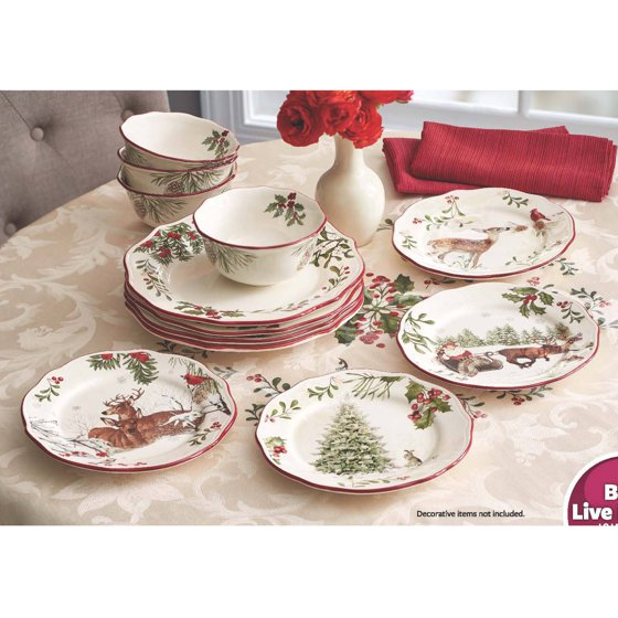 Better homes and gardens heritage 12 piece dinnerware set for Better homes and gardens dinnerware