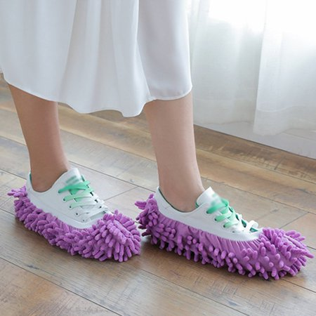 Chenille Lazy Mop Slippers Cover Clean Floor Removable And Washable Slippers Washable Dustproof Mop Slippers - image 5 of 6