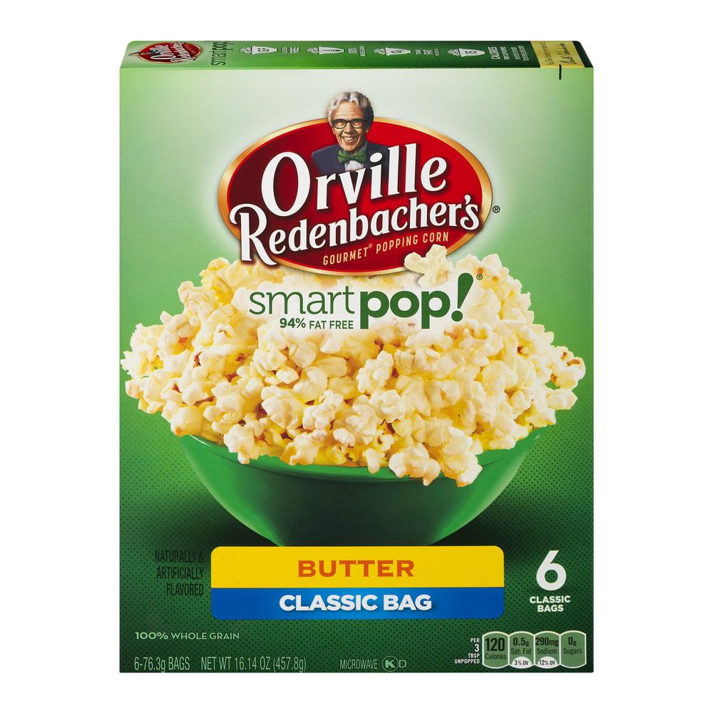Orville Redenbacher's® Smart Pop!® Gourmet® Popping Corn Butter Classic Bag 6-76.3g Bags