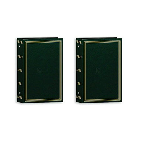 Large Square Album - Pioneer Photo Albums Pocket 3-RING Album 4X6 3-UP 504 Photo Hunter Green - Two Pack