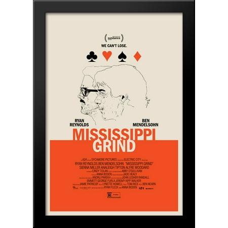 Mississippi Grind 28x40 Large Black Wood Framed Print Movie Poster Art