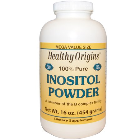 Foods Inositol Pure Powder - Healthy Origins 100% Pure Inositol Powder, 16 Oz