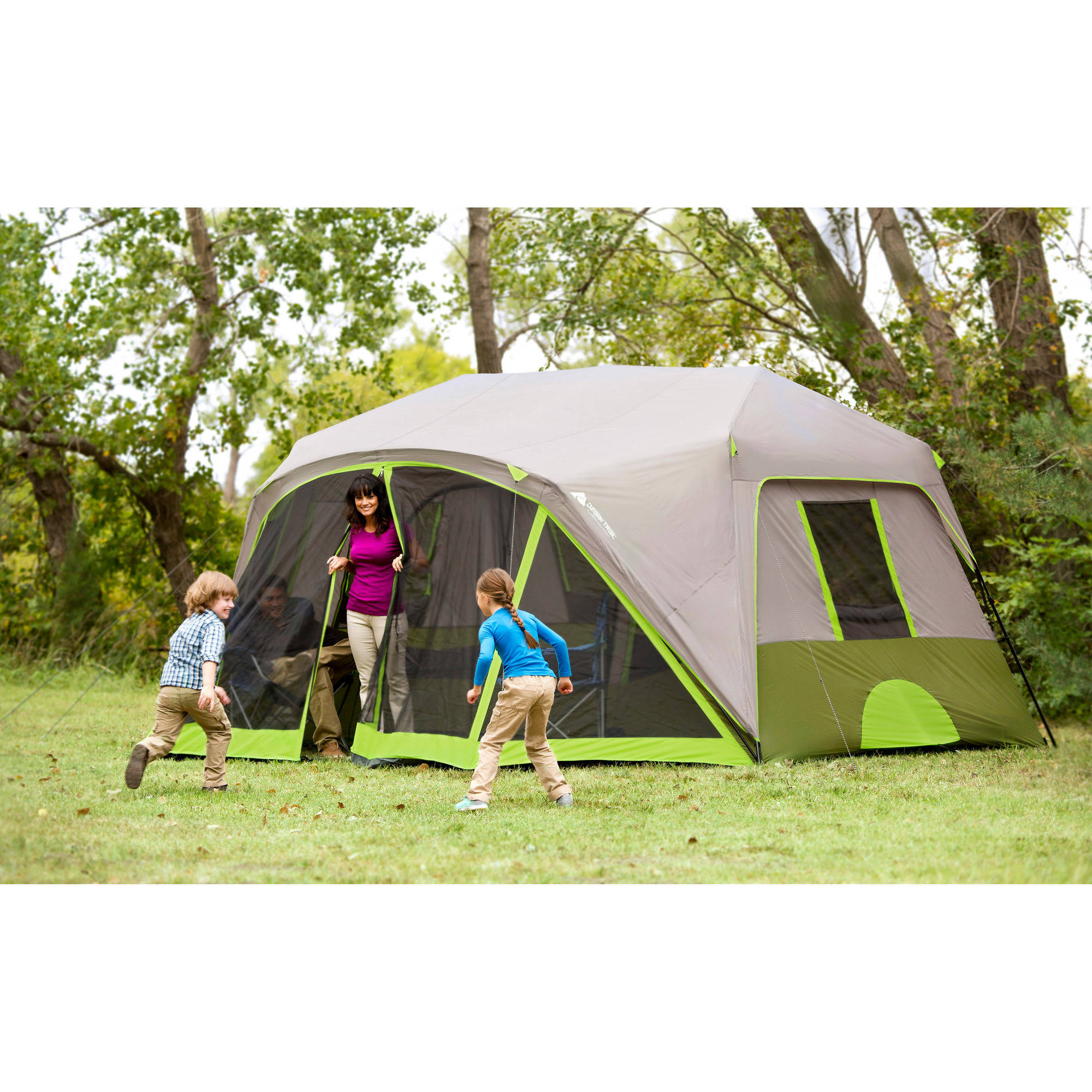 Ozark Trail 9 Person 2 Room Instant Cabin Tent with Screen Room - Walmart.com  sc 1 st  Walmart.com : best 2 room family tent - memphite.com