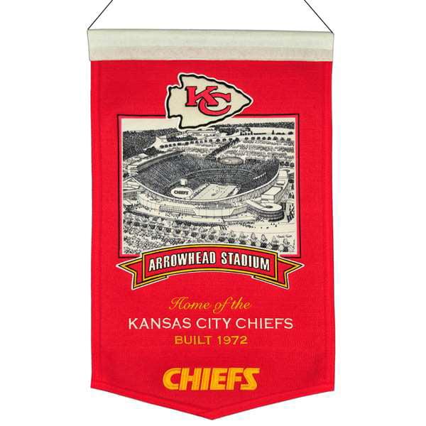 Kansas City Chiefs Wool Stadium Banner - Arrowhead Stadium
