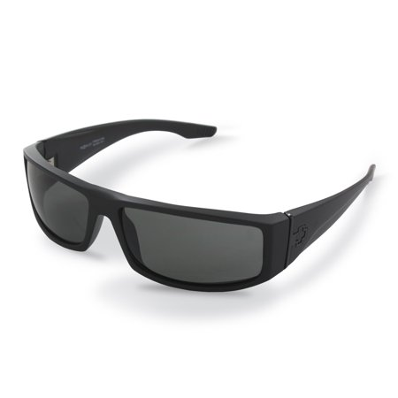 Spy Optic Cooper Matte Black Sunglasses, Grey Lens