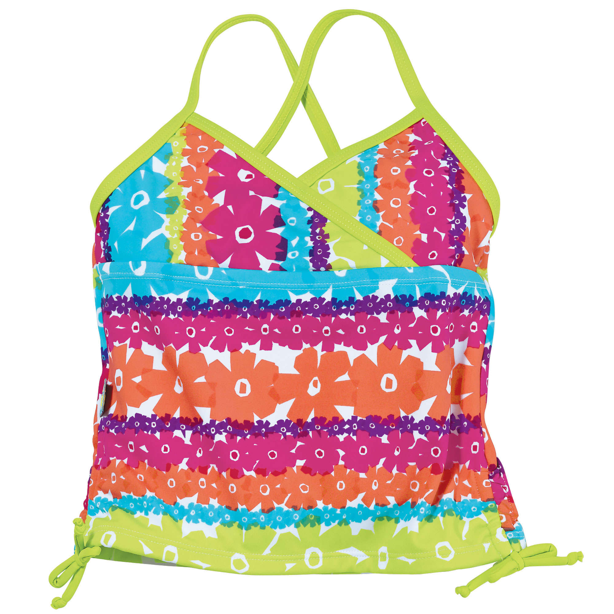 Sun Smarties Baby and Toddler Girl Tankini - Rainbow of Colors - Sleeveless Swim Top