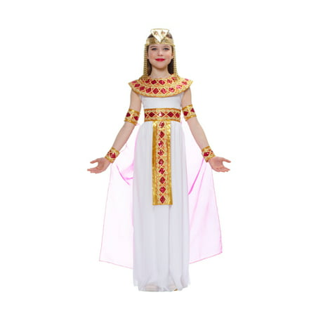 Girls Pink Cleopatra Halloween Costume - Cleopatra Costume For Child