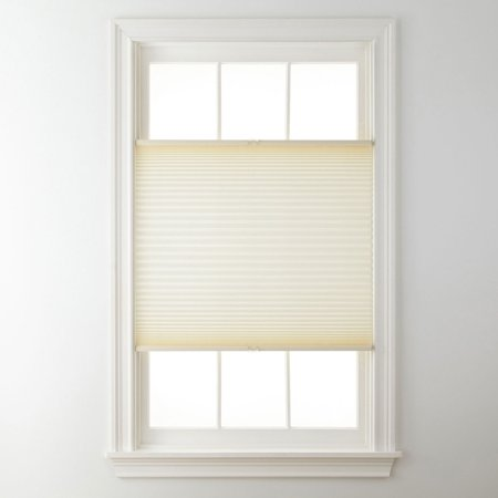 Top Down Bottom Up Cordless Pleated Shade Cream 23x48