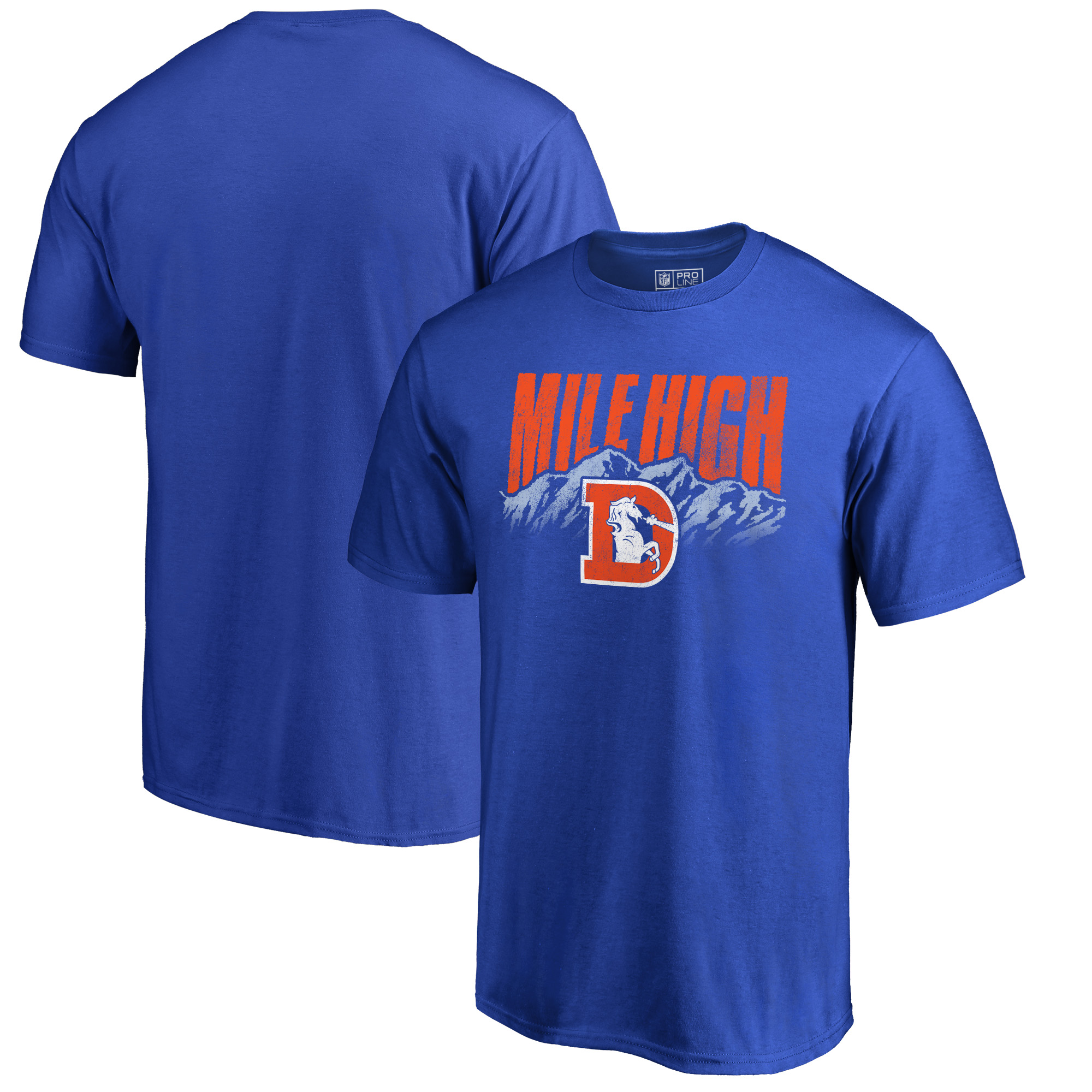 Denver Broncos NFL Pro Line by Fanatics Branded Hometown Collection Big & Tall T-Shirt - Blue