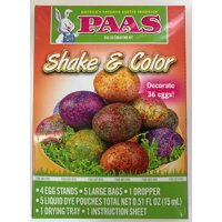 Way To Celebrate Paas Shake And Color Easter Egg Dye Kit