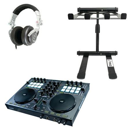 Gemini G2V 2-Channel Virtual DJ Controller, Pyle Pro PHPDJ1 Professional DJ Turbo Headphones & PLPTS55 Professional DJ Notebook -