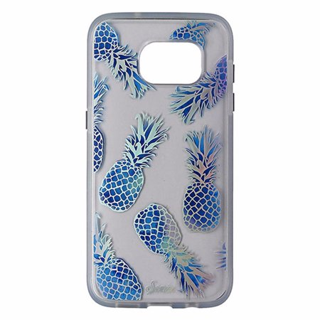 san francisco c2dcb 6a1d7 Sonix Clear Coat Case for Samsung Galaxy S7 Edge - Clear / Blue / Pineapples