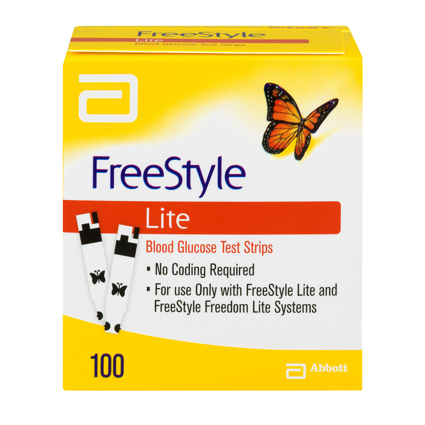 FreeStyle Lite Blood Glucose Test Strips - 100 CT100.0 CT