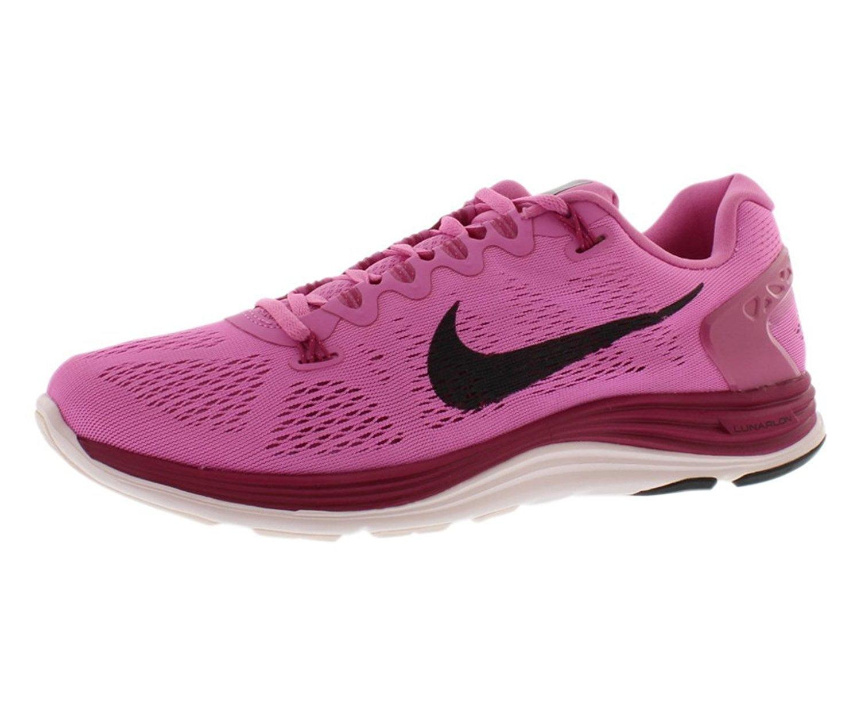 Nike Women's Lunarglide+ 5 Running Shoe B(M) Bright Grape/Violet Shade/Volt/White 11.5 B(M) Shoe US 21edeb