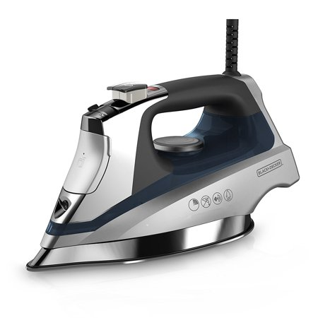 Black Decker Allure Digital Clothing Iron  Stainless Soleplate D3030