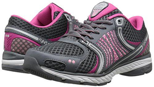 RYKA Women's Kora Running Shoe, Steel Grey/Candy Pink/Pink/Vapor Grey/Iron Grey, 5 M US