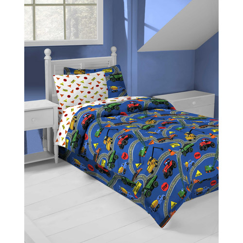 InStyle Roadworks Micro-fiber Bed in a Bag Bedding Set