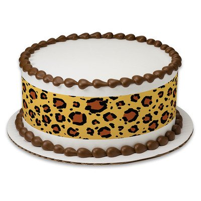 Safari Leopard Print Edible Frosting Image Cake Border Strips