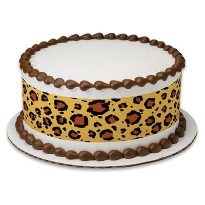 Brilliant Safari Leopard Print Edible Frosting Image Cake Border Strips Funny Birthday Cards Online Elaedamsfinfo