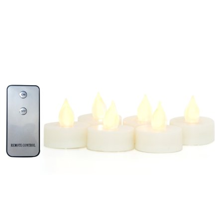 Candle Candle Choice 6 PCS Realistic Flickering Flameless Candles, Battery Operated Tealights, Tea Lights with Remote, Long Battery Life, Batteries Included, 1.5