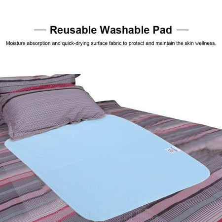 2 Pack, Bed Pad Standard Reusable Underpad Washable For Adults Incontinence Pad Blue + White 45 * 60,Reusable Washable -