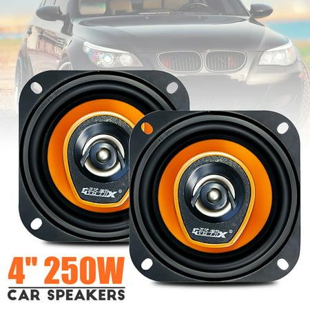 "2 Sets of New MECO loudspeaker GX-481 4"" 250W 2 Way Car Audio Coaxial Speakers Stereo Pair -Black"