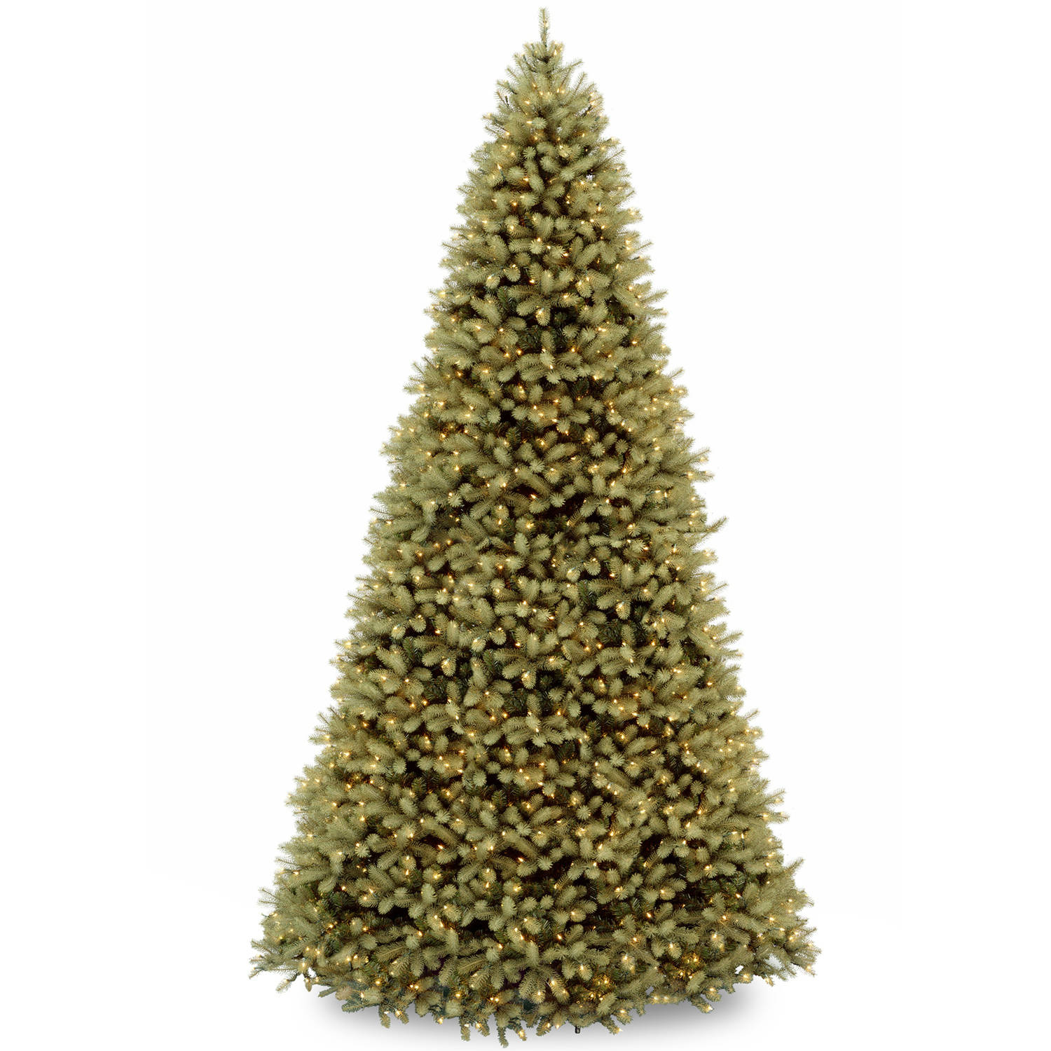 "National Tree 12' ""Feel-Real"" Downswept Douglas Hinged Tree with 1500 Clear Lights"