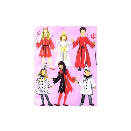Devil And Angel Costumes (OOP McCall's Costume Pattern M5729. Children's.kids/boys/girls Szs 3/4;5/6 Court Jester; Clown; Devil; Angel, Halloween Costume Pattern By)