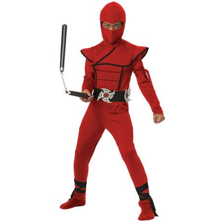 Stealth Red Ninja Costume for Boy's - Ninja Costume For Child