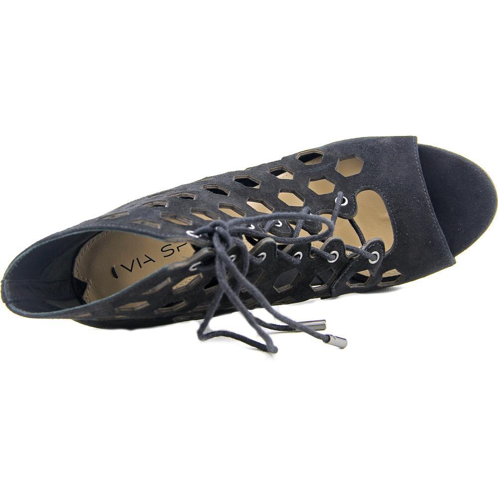 Via Spiga Elouise  Women  Open Toe Suede Black Sandals